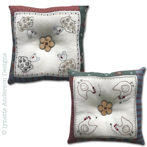 Farmyard Pincushions - pattern