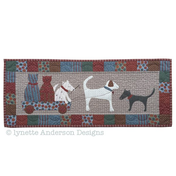 Fur Babies at Play Tablerunner - pattern