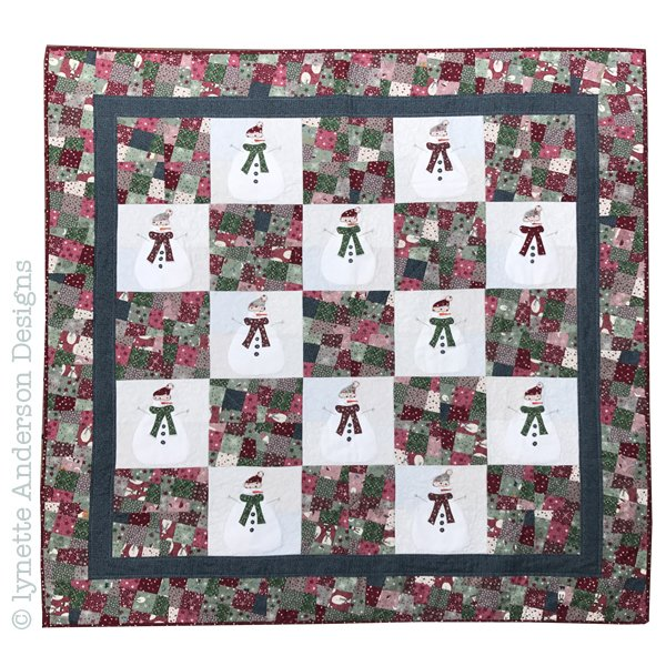 Let's Build a Snowman Quilt - pattern