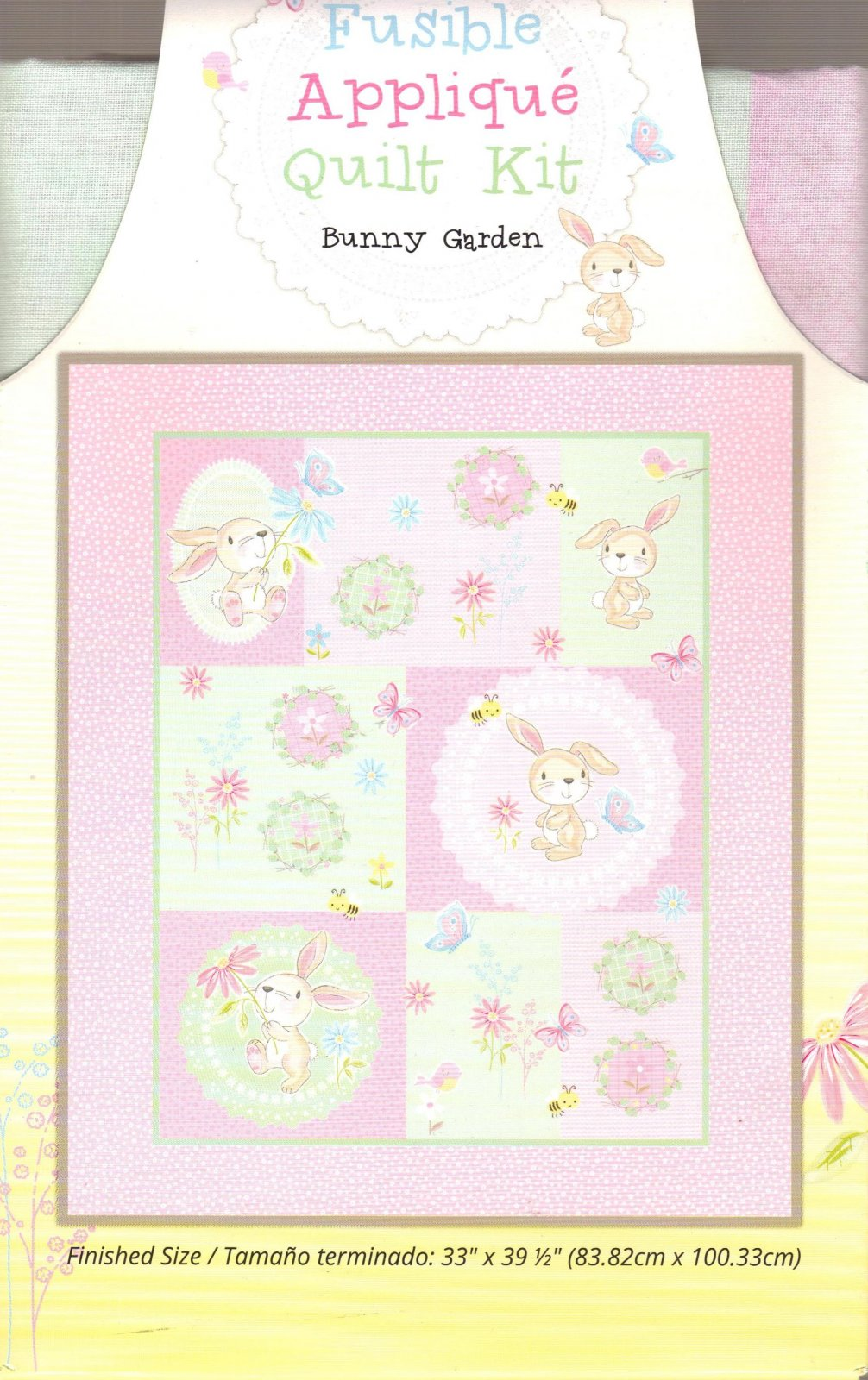 Ft Fusible Applique Quilt Kits Bunny Garden
