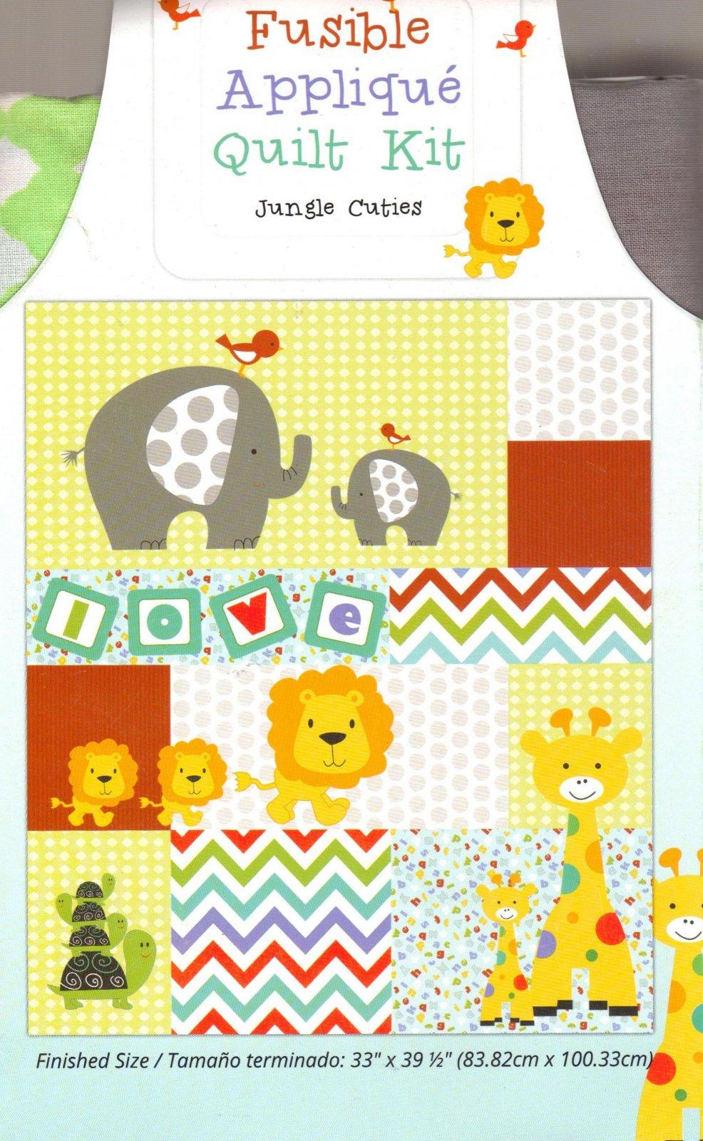Ft Fusible Applique Quilt Kits Jungle Cuties