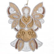 Gifts of Gold Ornament #12644-18 Flat Angel