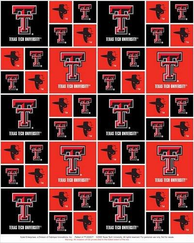 TTU-020 Texas Tech NCAA-Texas Tech Red and Black