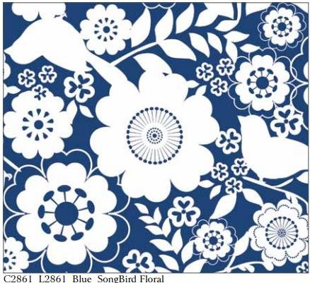 Song Bird Floral By Riley Blake Designs -C2861 Blue