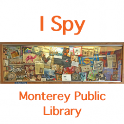 Photo of quilt display at Monterey Public Library