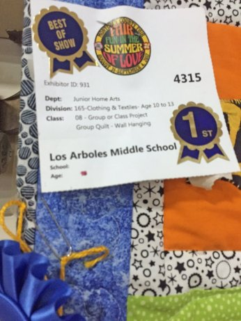 Los Arboles Middle School Grant Recipient 2017