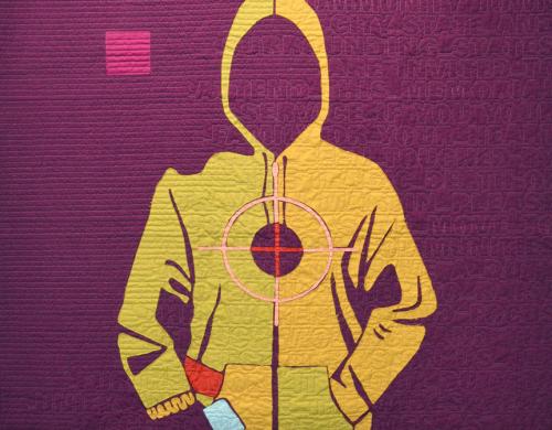 Modern quilt on exhibit