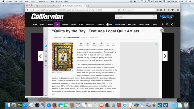 Screen shot of Salinas Californian article