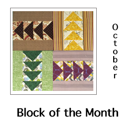 October Block of the Month Directions
