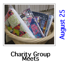 Charity Quilt Group Meets in August