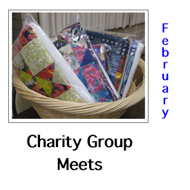 Charity Quilt Friendship Group February