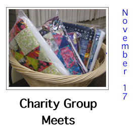 Charity Group Meets October 20