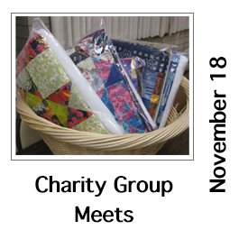 Charity Quilt Friendship Group November Meeting
