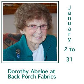 Dorothy Abeloe at Back Porch Fabrics