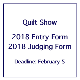 Quilt Show Quilt Entry and Judging Forms Now Available