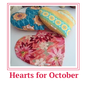 heart pillows for october