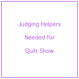 Judging Helper Needed