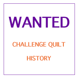 Challenge Quilt History Wanted logo