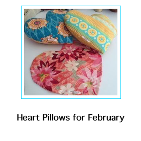 Heart Pillows for February