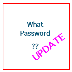 Update to Website Password Issue