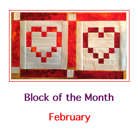 February Block of the Month Hearts on Fire