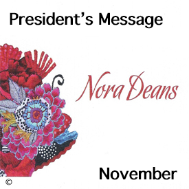 President's Message for November