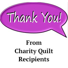 Thank you notes for charity quilts