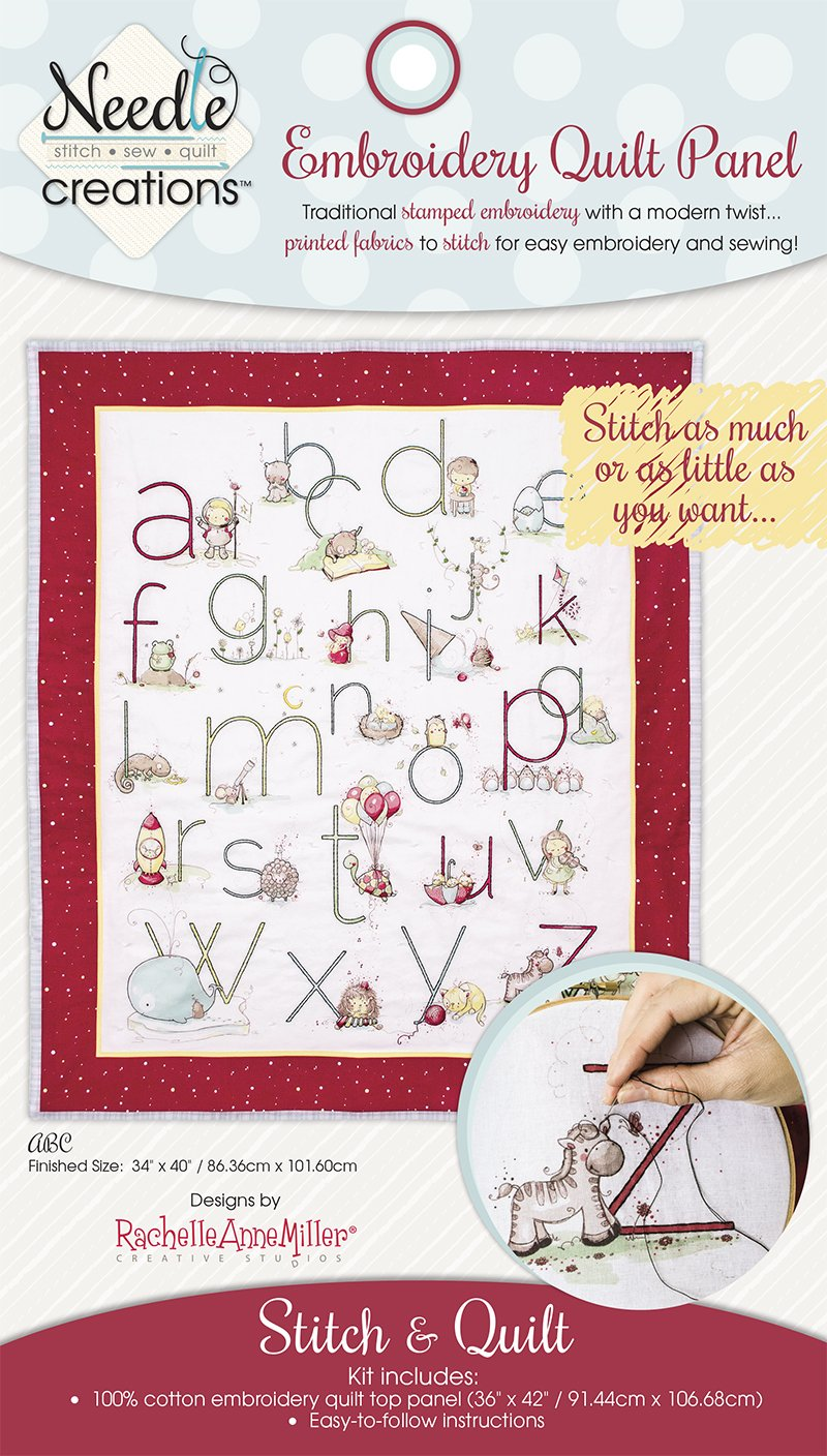 Needle Creations <br>Embroidery Quilt Kit <br>ABC Quilt <br>MD-NC2-QLT-1