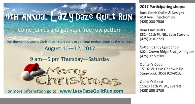 Lazy Daze Quilt Run