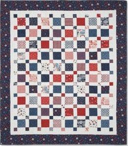 Super Simple Squares Patriotic Quilt Kit : patriotic quilt kits - Adamdwight.com