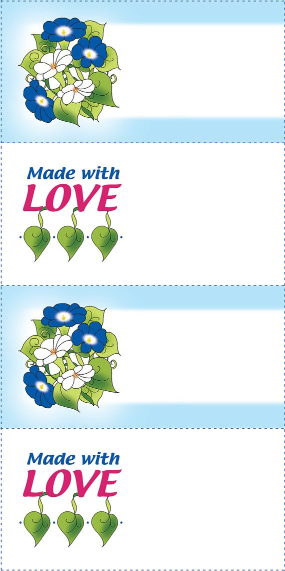 Quilt Labels (4) - Morning Glory & Love