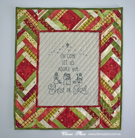 adore christmas wall hanging by clares place