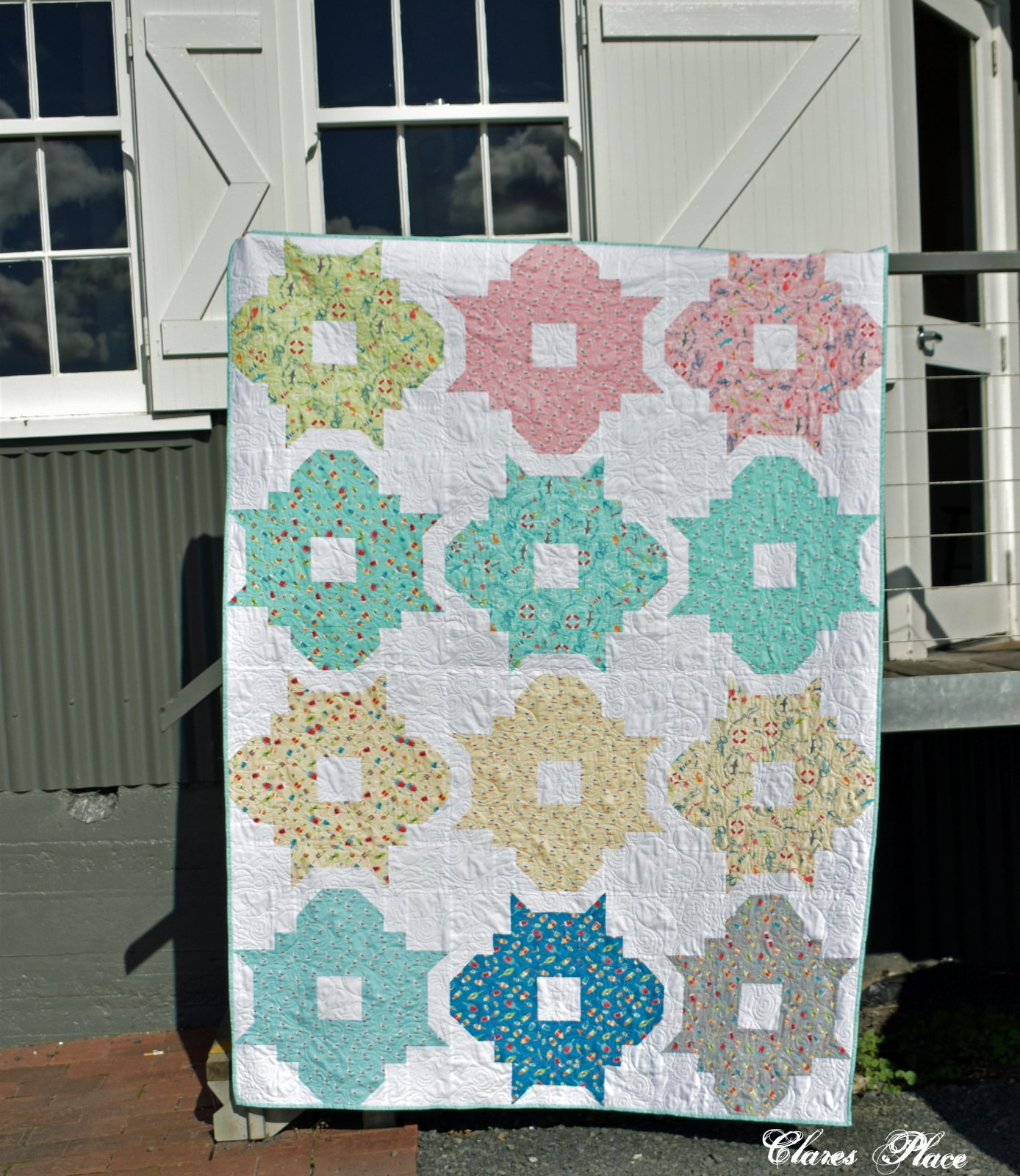 Mod Charms quilt by Clares Place