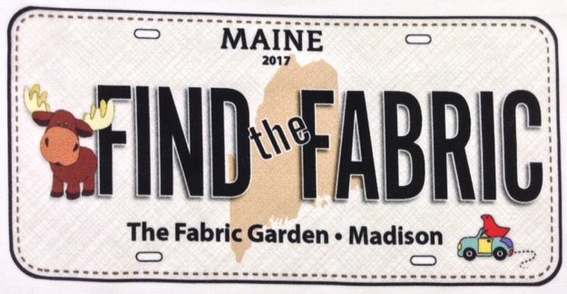2017 Row by Row License Plate | MOOSE Find The Fabric  (discounted shipping!)