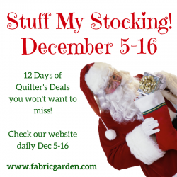 Stuff My Stocking - 12 Days of Quilters Deals!