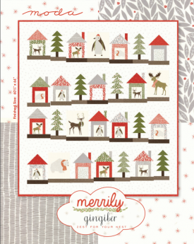 Free Quilt Patterns Moda Fabrics : Merrily by Gingiber for MODA