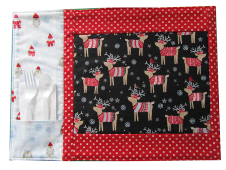 Placemats made using Snow Delightful fabrics