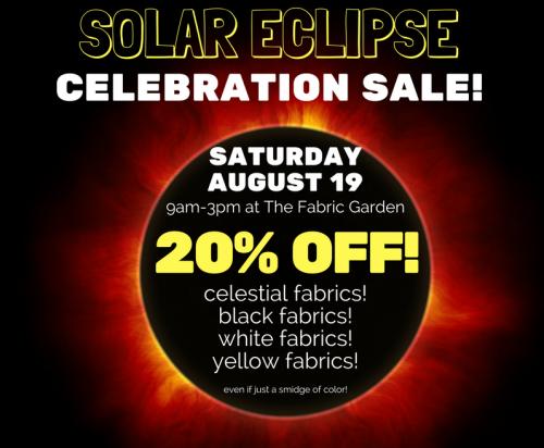 Solar Eclipse Quilt Fabric Sale