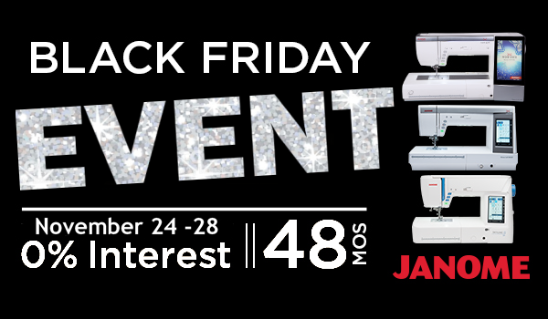 Black Friday Janome Financing 0% for 48 months