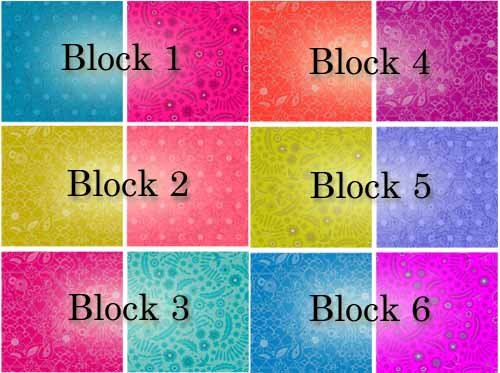 Block of the month colors