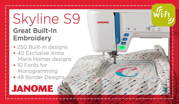 Introducing the new Skyline S9 - now with embroidery!