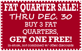 Fat Quarter Sale at The Fabric Garden