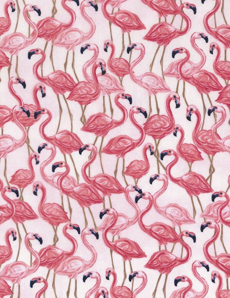 Timeless Treasures Fun C5745 Pink Flamingos