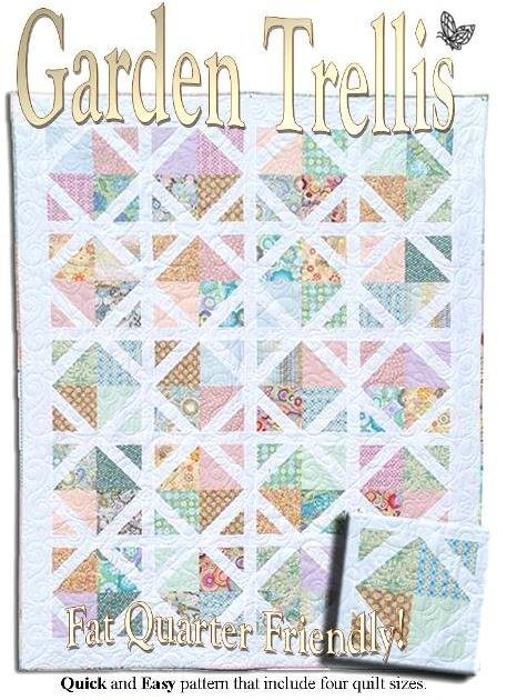 The fabric garden garden trellis quilt pattern for Garden trellis designs quilt patterns