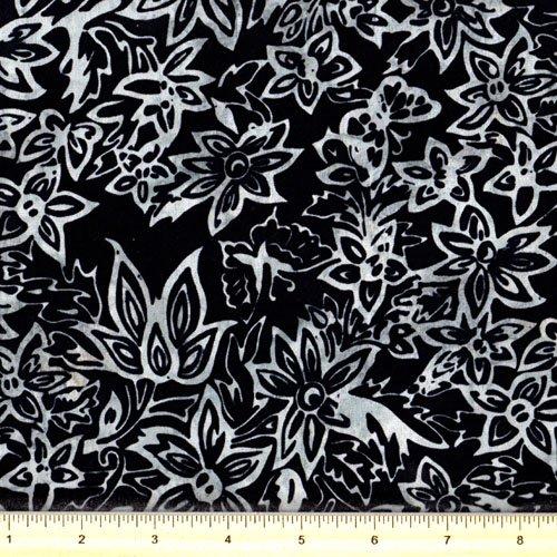 Hoffman K2446-4 Black White Batik
