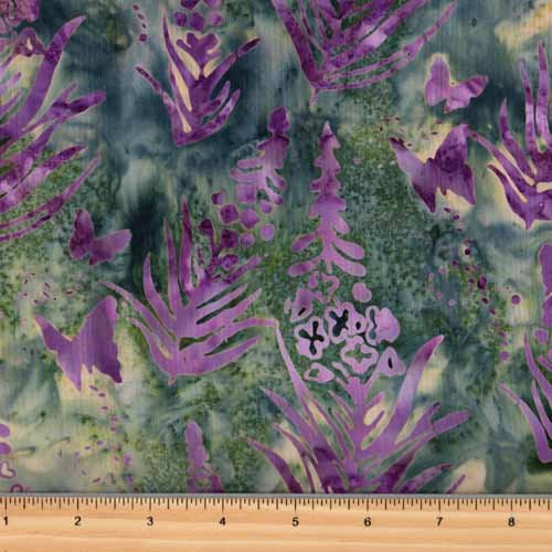 Hoffman Into The Wild Batik P2984 390 May Lupine Butterfly