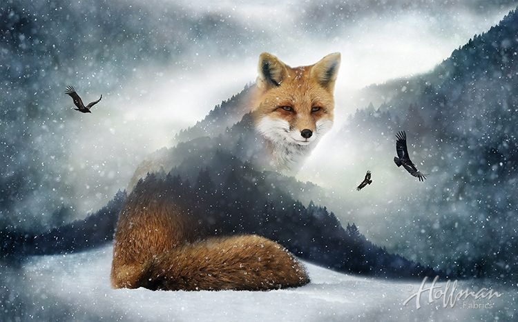 Hoffman CALL OF THE WILD - FOX Digital Print PANEL | P4358-293