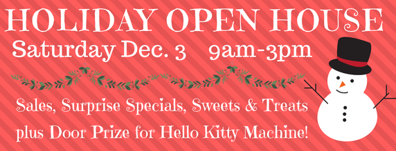 Holiday Open House - In-store on Saturday December 3