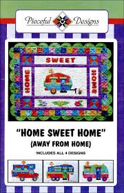 Home Sweet Home (Away From Home) RV Camper Pattern