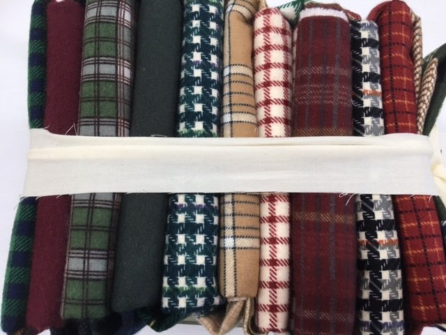 Pack of 20 Flannel Fat Quarters - Handsome Plaid Flannels